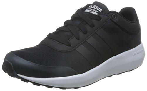 adidas Cloudfoam Race W, Zapatillas de Deporte para Mujer Negro (Negbas / Negbas / Ftwbla)
