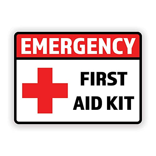 2-Pack Emergency First Aid Kit Vinyl Decal Sticker   7-Inch by 5-Inche   Premium Quality Vinyl Decal   Laminated with UV Protective Laminate   PD2731