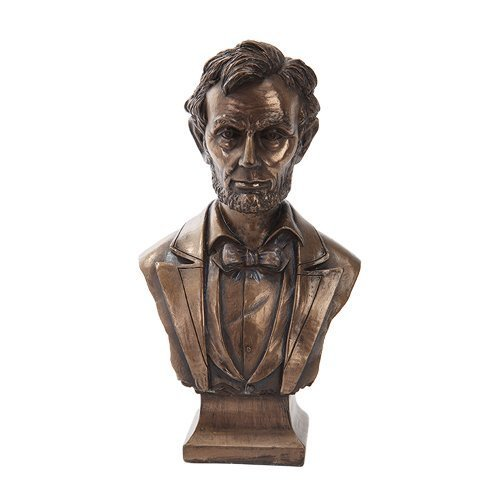 PTC 7.5 Inch Bronze Colored Abraham Lincoln Bust Figurine Statue