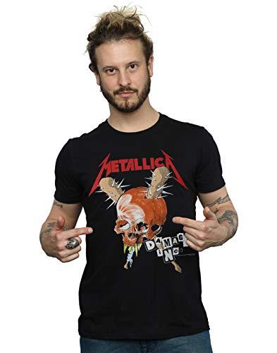 Absolute Cult Metallica Men's Damage Inc. Tour T-Shirt Black Medium