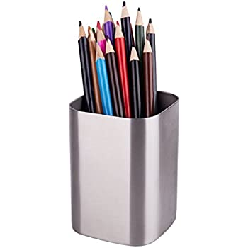 IMEEA Pen Pencil Holder Makeup Brush Holder 1.2mm Thick Heavy Duty SUS304  Brushed Stainless Steel