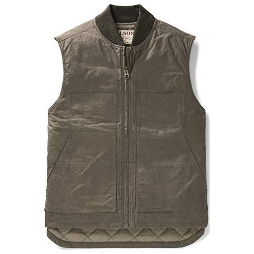 Filson Men's Dry Wax Work Vest Walnut X-Large ()