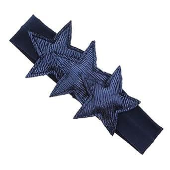 Classy Plush Metallic Stars Baby Headband - Blue - One Size