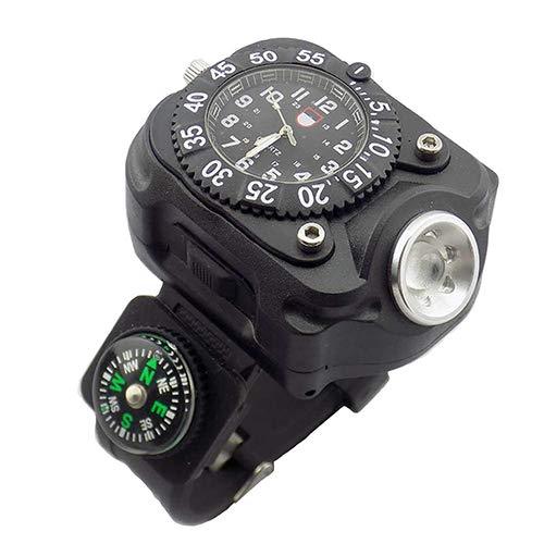 3in1 Men Wrist Watch, Men es Sports Outdoor Waterproof Multi Function LED leistungsstarke Taschenlampe und Kompass