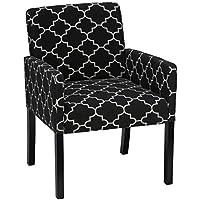 Cortesi Home Tegan Accent Chair, Charcoal Black