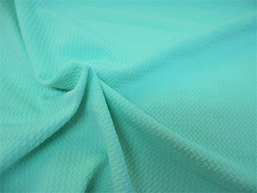 (Bullet Textured Liverpool Fabric 4 Way Stretch Mint Green S13)
