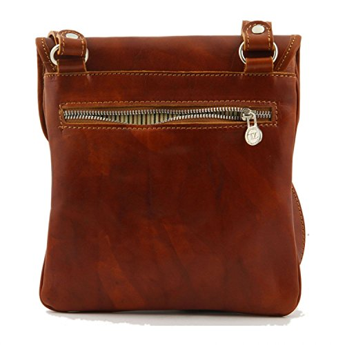 Brown Tuscany Crossbody Joe Leather Dark Bag Red wvFvqz