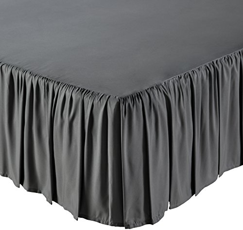 extra long cal king bed skirt - 6