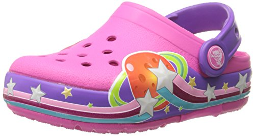 crocs Girls Galactic Light-Up Clog (Toddler/Little Kid), Neon Magenta, 12 M US Little Kid by Crocs