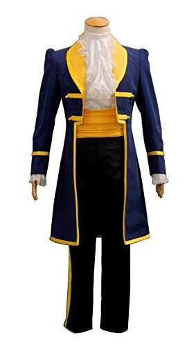 [LM Men Beauty and Beast Belle Classic Adult Halloween Cosplay Costume LM134] (Mens Beast Halloween Costume)
