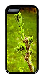 for iphone 6 4.7 Case Beautiful Tree Buds TPU for iphone 6 4.7 Case Cover Black