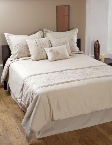 Textrade Aurora 7-Piece Comforter Set, Queen, Champagne (Aurora Comforter)