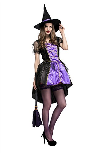 Female Devil Costume Pictures (Sexy Devil Halloween Costumes For Women Plus Size Dress,Sexy Suit Of Sorceress,Roles Play And Stage Performance Clothing,The Game Uniform Purple)