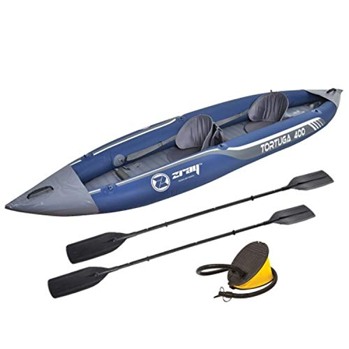 Z-Ray Tortuga Inflatable 2-Person Kayak with Pump and Oars