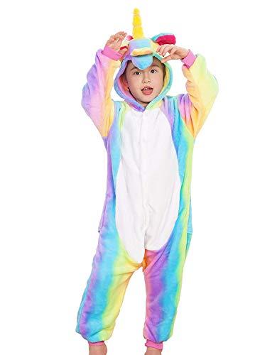 Rainbow Unicorn Onesie Pajamas Cosplay Costume for Kids 3t 4t -