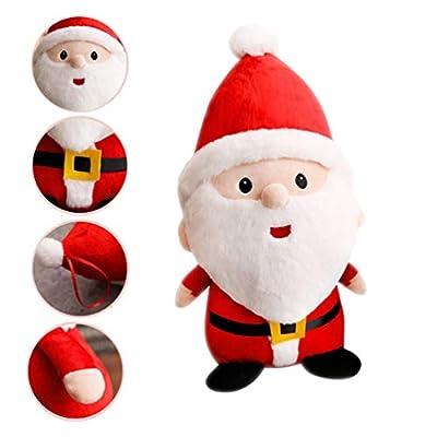 STOBOK Christmas Plush Santa Doll Cartoon Toy Figurine Gift Desktop Ornament for Kid Christmas Tree Xmas Party Decorations Hanging Stuffed Pendant 40CM: Office Products