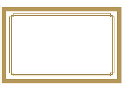 Pack Of 50, Solid Metallic Gold Duet Gloss Enclosure Card 3-1/2 x 2-1/4'' Made In USA by Generic
