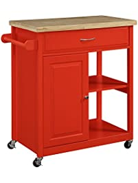 Lovely Oliver And Smith   Nashville Collection   Mobile Kitchen Island Cart On  Wheels   Red