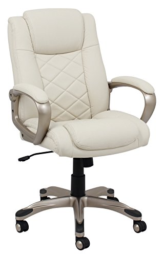 Delightful BarcaLounger 9631S MA Female Executive Chair, Ivory