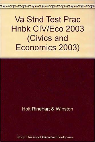 Holt American Civics & Economics Virginia: Standardized Test