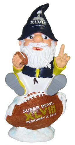 NFL League Logo Super Bowl XLVIII Sitting On Logo Gnome, Black, One Size by FOCO