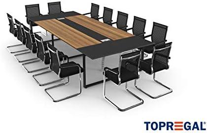 Togogal Anja - Mesa de reuniones con sillas (para 10-14 personas ...