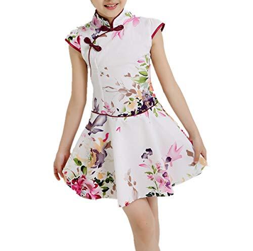 Baby Girls Dresses Chinese Traditional Style Cheongsam Costume Children Clothing,Style Ten,10