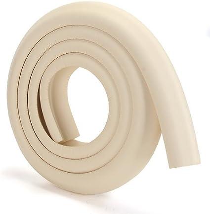 Protector 2m Esquina Mesa Mueble Antigolpes Seguridad para Ninos Bebe Beige R SODIAL