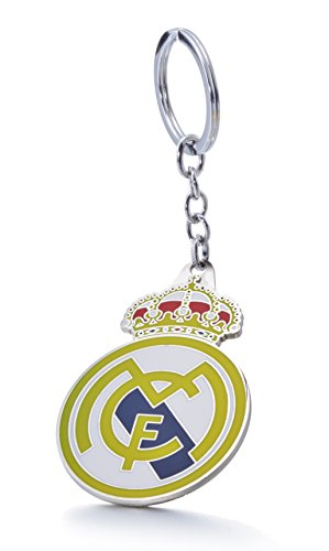 Official Soccer Team Football Club Logo Metal Pendant Keychain (Real Madrid C.F.)