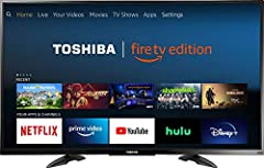 Enjoy visual content in Ultra HD quality with this 50-inch Toshiba 4K Fire TV. Compatibility with popular virtual assistants supports voice control, while the 60Hz refresh rate ensures stutter-free transitions. This Toshiba 4K Fire TV feature...