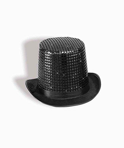 Black Sequin Top Hat (Top Hats Fancy Dress)