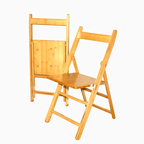 (UNICOO - Bamboo Wood Folding Chairs, Natural Finish (Set of 2))