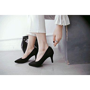 mujeres las microfibra de los Gris y de noche partido vestido Rosa zapatos Invierno carrera de RhinestoneBlack Club Talones de y oficina Primavera del Gray Otoño el bajo talón Verano Eqx75P