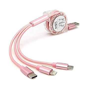 XYEU 3 en 1 Multi Cable de Carga, 1M Multi Cable Cargador ...