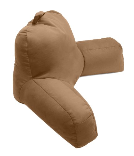 Porter Bedrest Pillow Maroon- Best Bed Rest Lounger Pillows with Arms for Reading in Bed