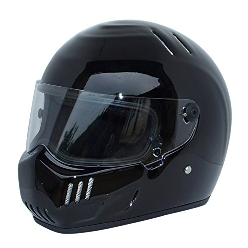CRG Sports ATV Motocross Motorcycle Scooter Full-Face Fiberglass Helmet DOT Certified ATV-6 Glossy Black Size Large by CRG Sports (Image #6)