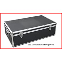 New Aluminum 840 Discs Movie Storage case For DVD Blu-Ray with Sleeves Black