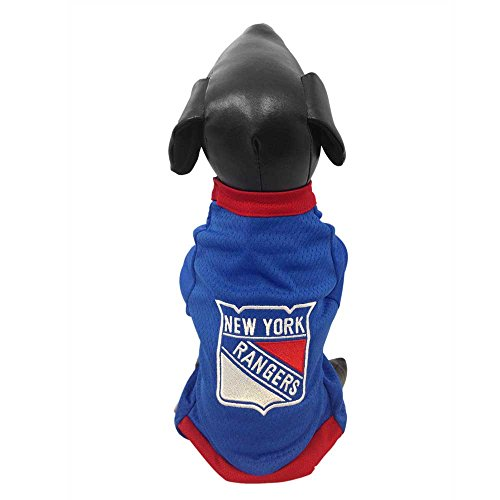 All Star Dogs NHL New York Rangers Athletic Mesh Dog Jersey, XX-Small, - Jerseys Dog Nhl