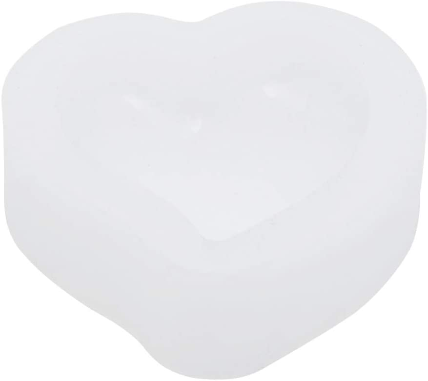 HealthLILY Moldes de resina en forma de corazón moldes de fundición de silicona moldes de fundición de joyería para cabujón de piedras preciosas DIY manualidades cabujón