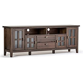 Amazon.com: Simpli Home 3AXCCOS72 Cosmopolitan Solid Wood 72 ...