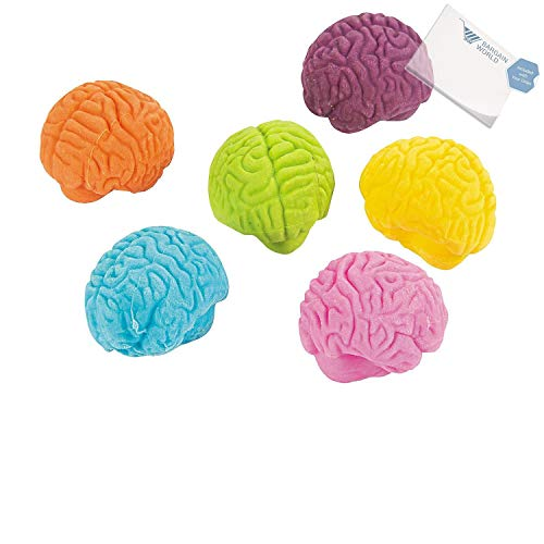 Rubber Brain-Shaped Erasers (With Sticky Notes) by Bargain World (Image #2)