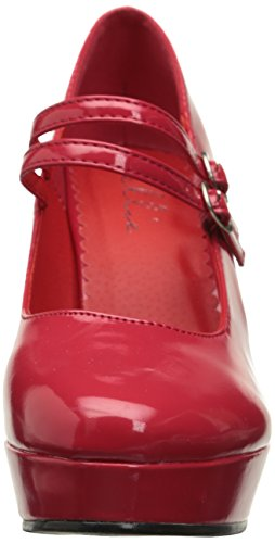 Ellie para 421 Mujer Jane Maryjane Shoes Rojo Bomba pxzrzq4n