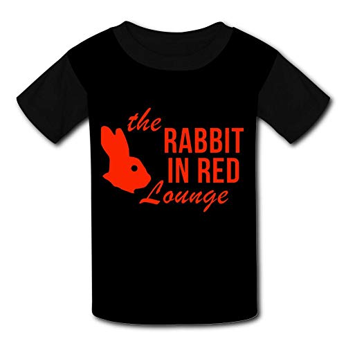 The Rabbit in Red Lounge Boy Girl Short Sleeve T Shirt Crewneck Cartoon Tees M