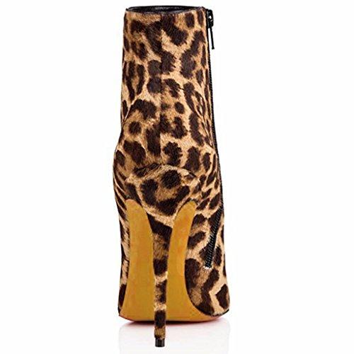otoño impermeable 6699FD señora Suede Botas Señora trabajo de 39 Cremallera YELLOW lateral botas de Yellow Botas 40 alto invierno de cuero tacón de wtqddUz