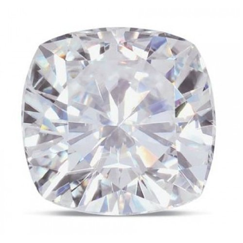 Moissanite Cushion 9.5 mm 4.20 carats 81 facets by Charles & Colvard