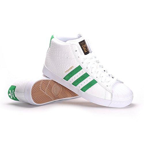 adidas Pro Model Vulc ADV (White/Green/White) Mens Skate Shoes