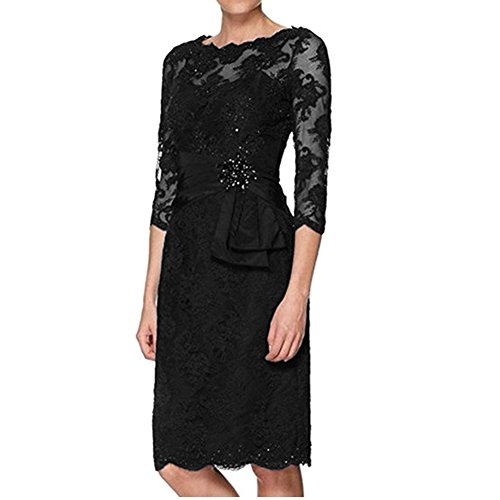 H.S.D Lace Mother of the Bride Dresses Women's Sheath Short Evening Gowns
