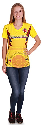 - Women's Colombia World Cup 2018 Soccer Jersey, Women Size L/XL