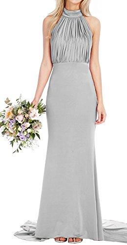 Wedding Bridal Dress Long Prom AiniDress Halter Bridesmaid Dresses Fishtail Neck Maxi Grey Yz0qUw1
