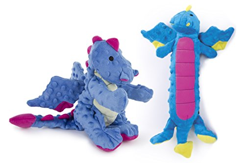 goDog 2 Count Dragon Plush Toy & Skinny Dragon Plush Toy for